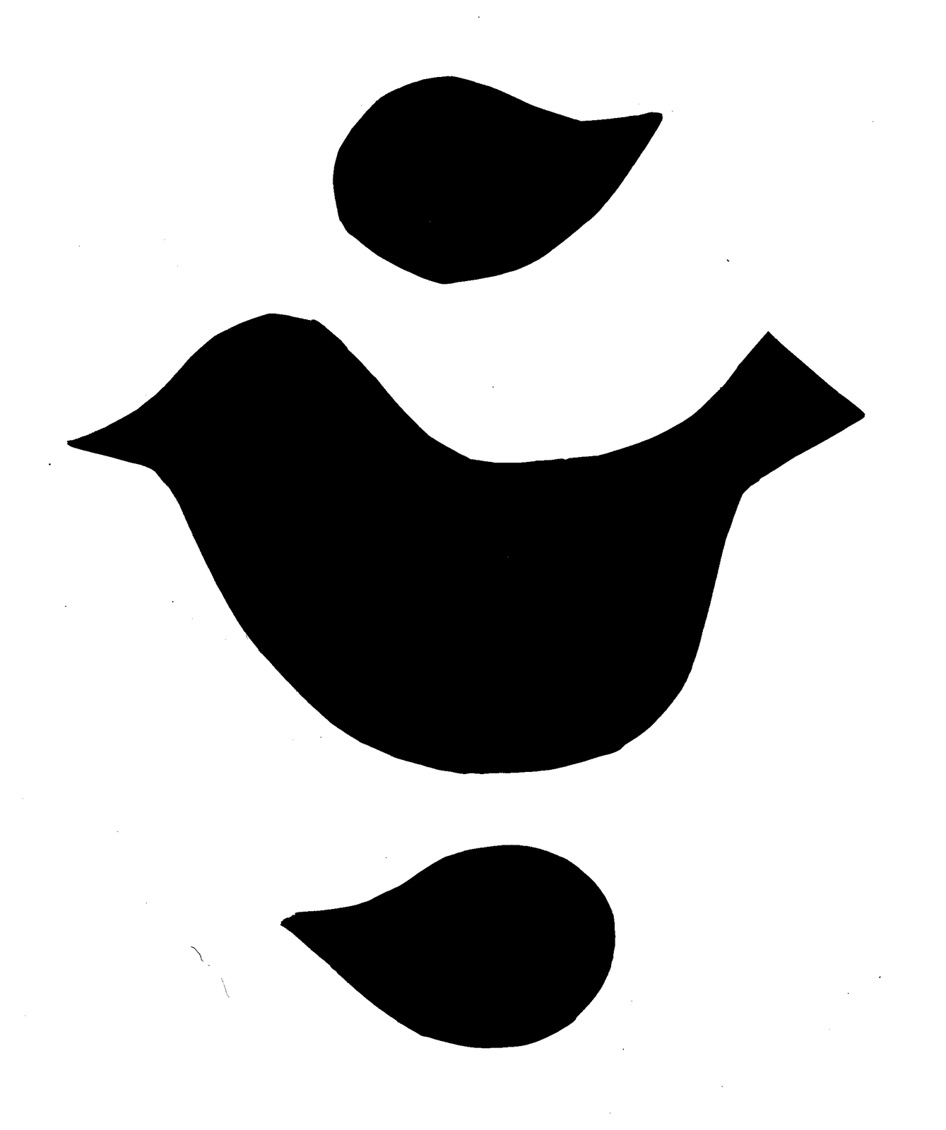 Preschool Bird Template Submited Images