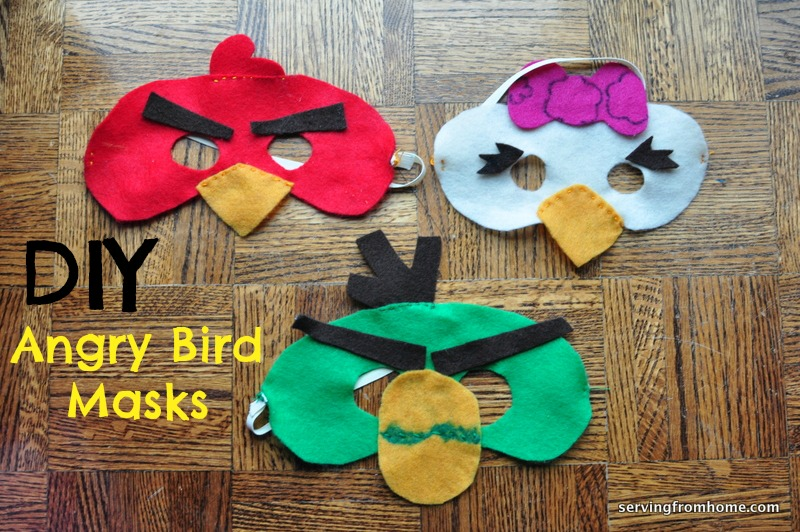 diy angry birds mask tutorial   serving from home