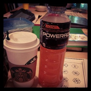 coffee and powerade