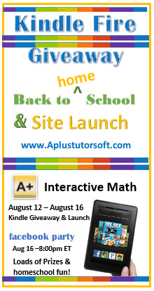 Kindle Fire Giveaway A+ Interactive Math