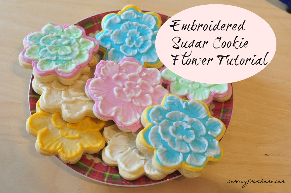 Royal Icing Embroidered Sugar Cookie Flower Video Tutorial