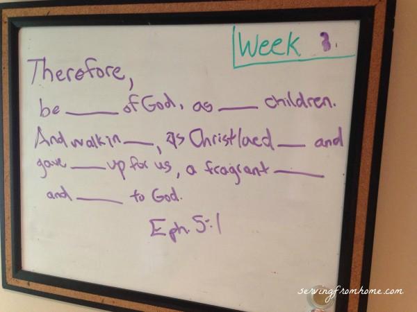 Scripture Memory Memory