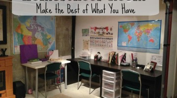 Homeschool Room Make the Best of What You Have