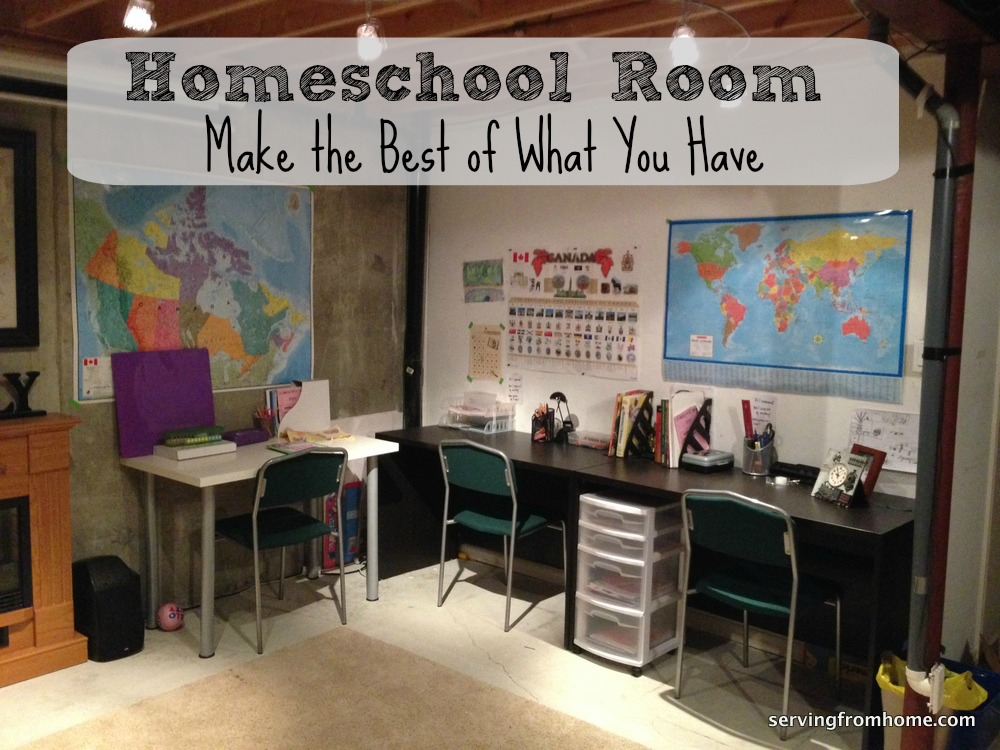 Homeschool room make the best of what you have serving for Home school room ideas