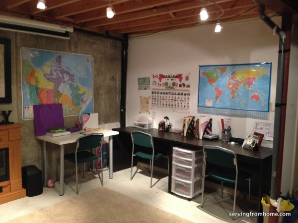 Homeschool Room Make The Best Of What You Have Serving
