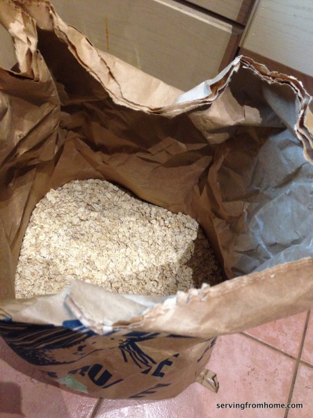 big bag of oats